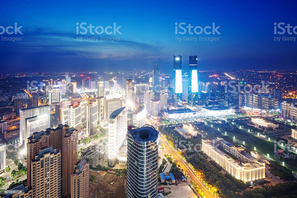 Aerial view of chinese city,shenzhen stock photo