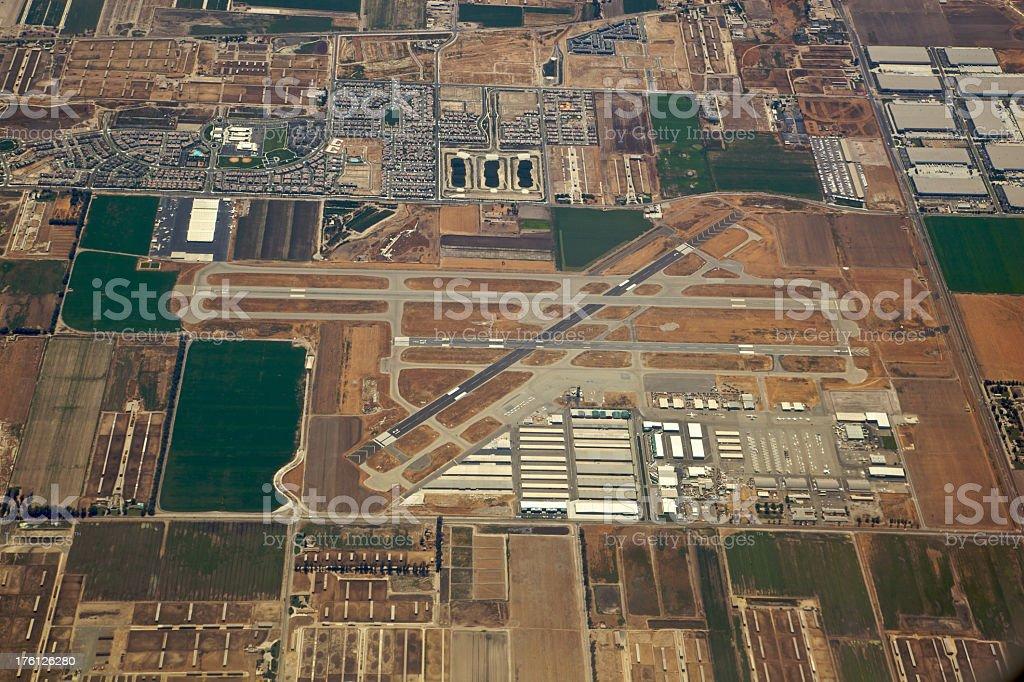 Aerial View of Chino, California Airport XXXL stock photo