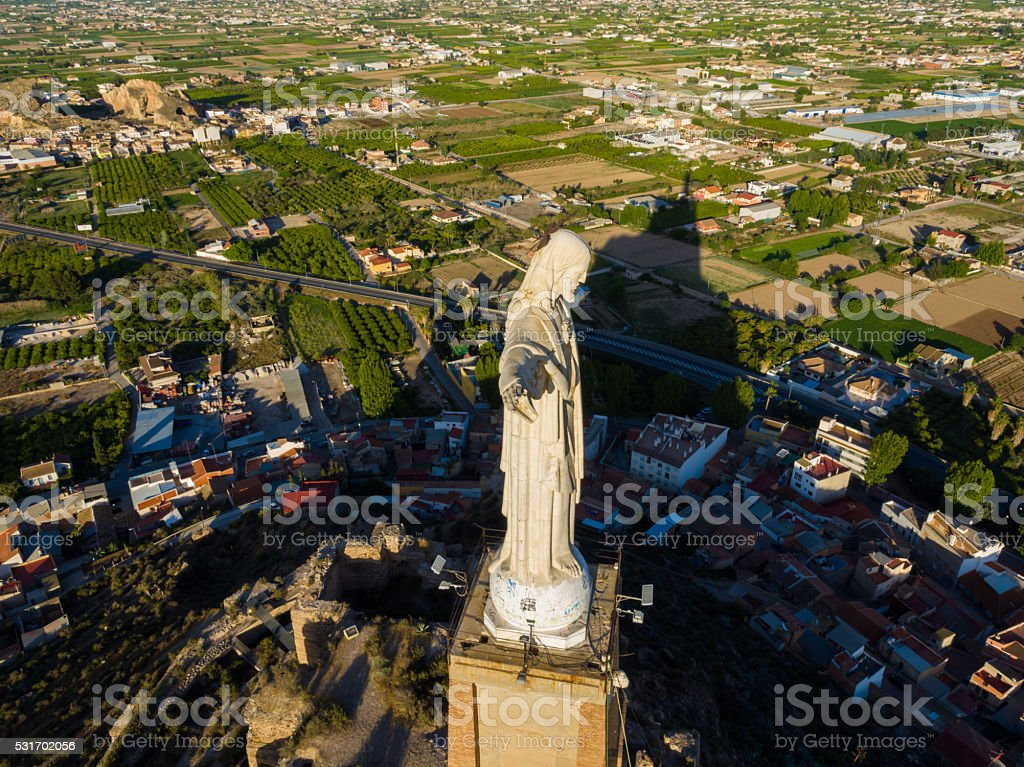 Aerial view of Christ Statue stock photo