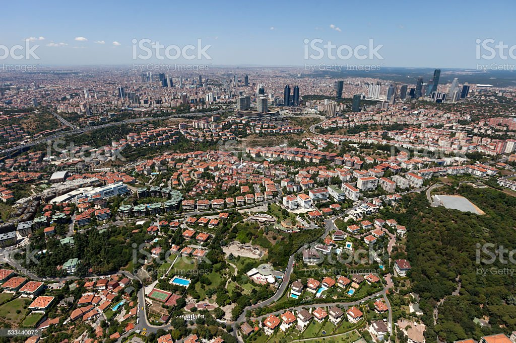 Aerial View of City stock photo