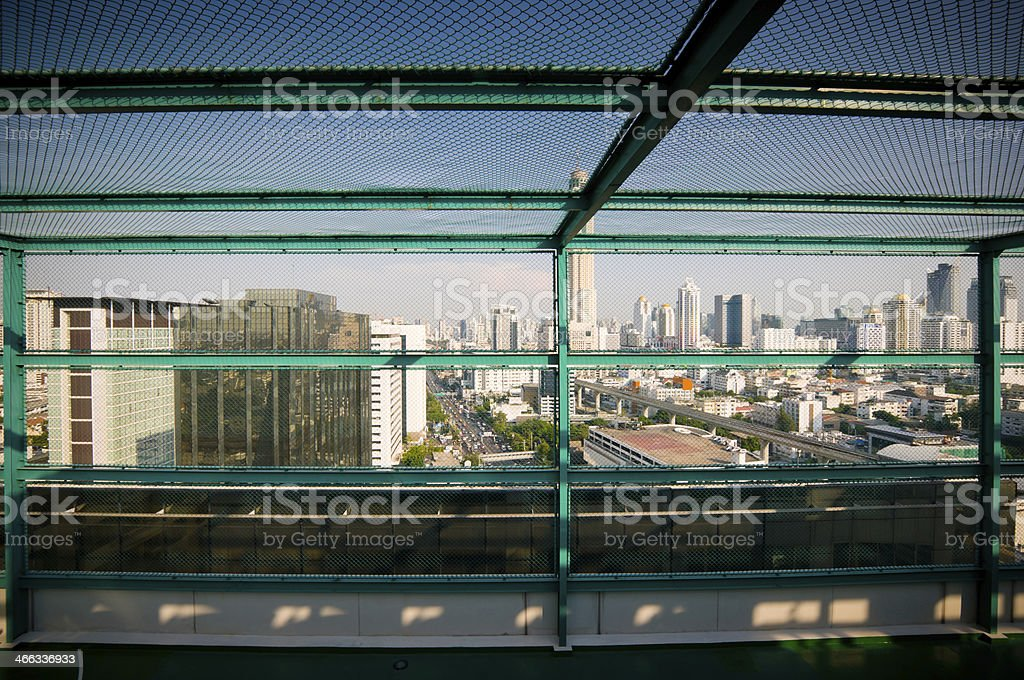 Aerial view of  Cityscape royalty-free stock photo