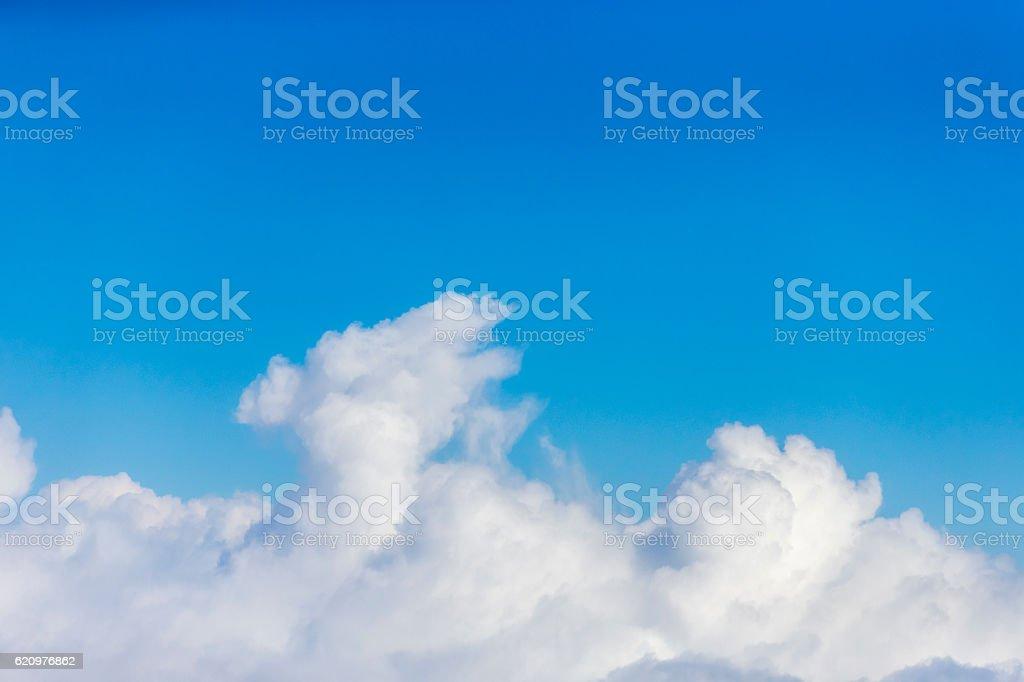 Aerial view of cloud in Xinjiang, China stock photo