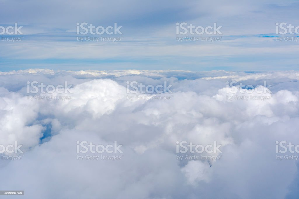 Aerial view of clouds and sky. royalty-free stock photo