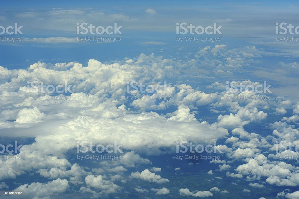 Aerial view of cloudscape royalty-free stock photo
