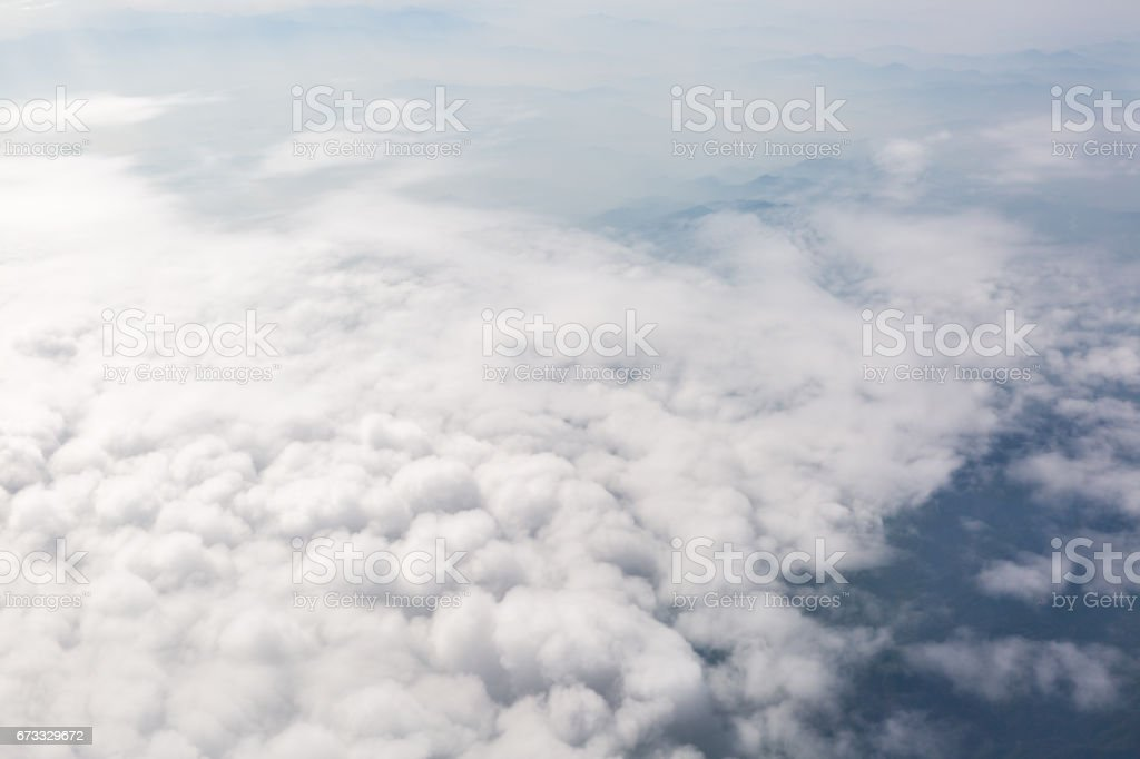 aerial view of cloudscape stock photo