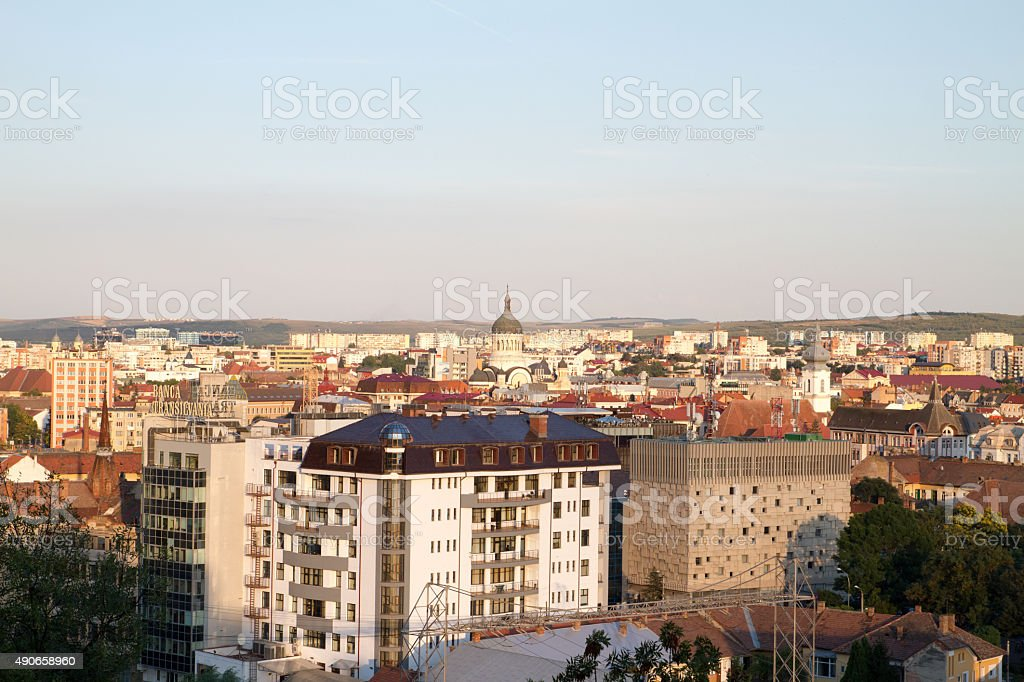 Aerial view of Cluj royalty-free stock photo