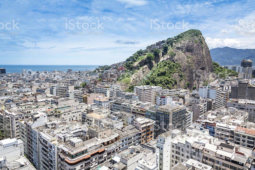 Aerial view of Copacaban Beach in Rio de Janeiro royalty-free stock photo