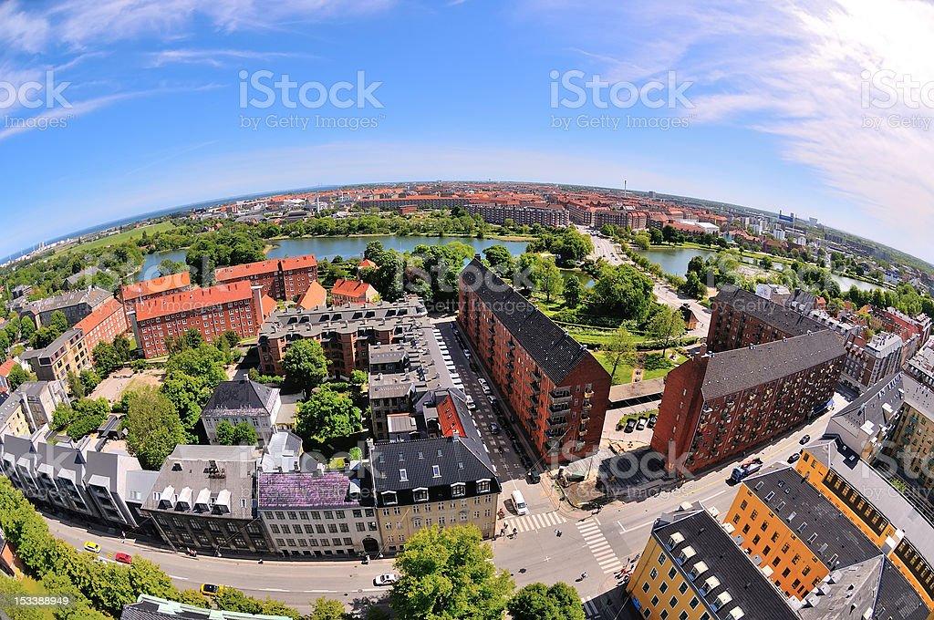 Aerial View of Copenhagen Denmark royalty-free stock photo