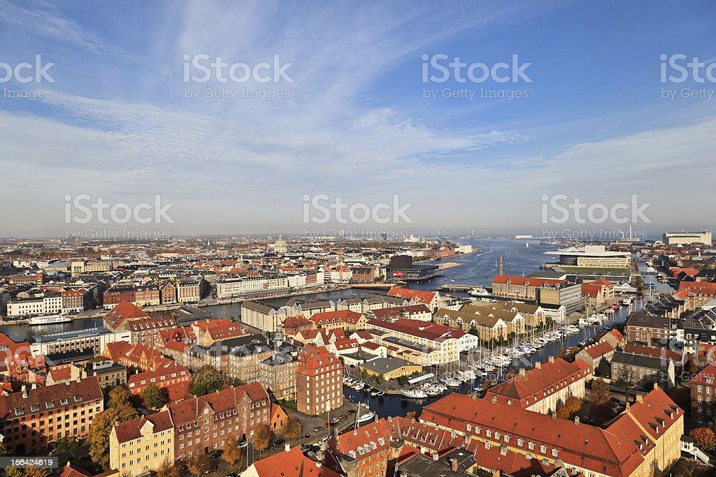 Aerial view of Copenhagen royalty-free stock photo