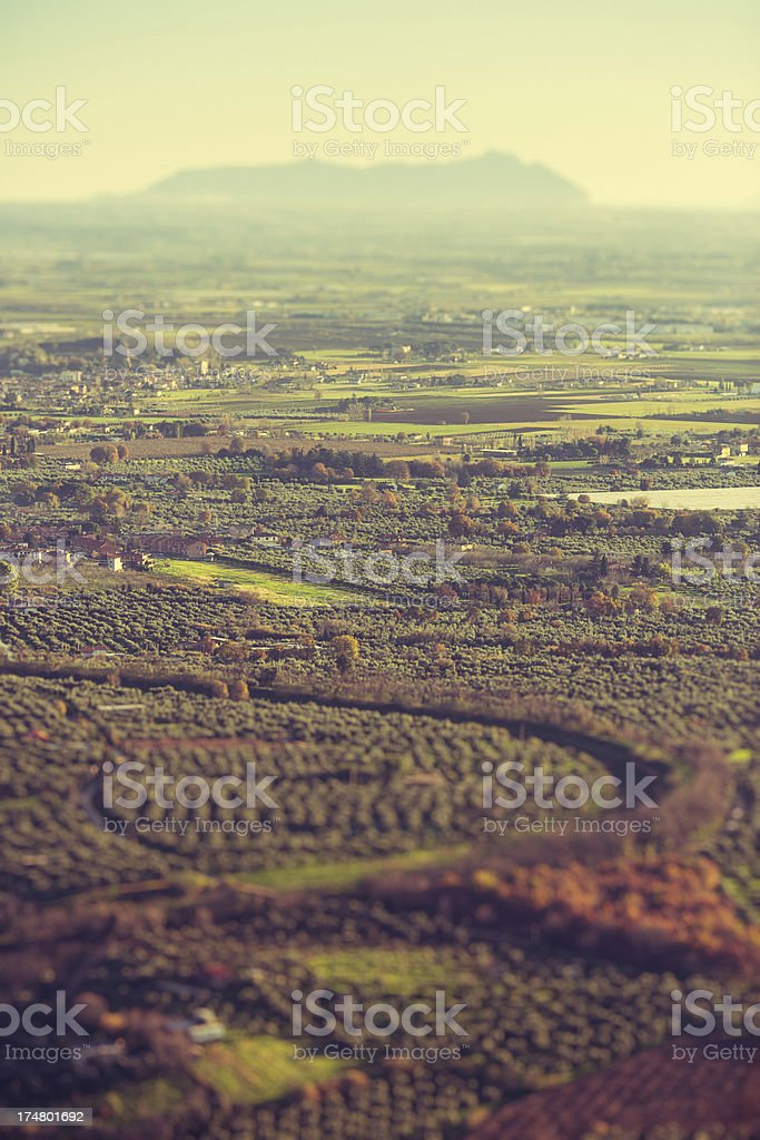 Aerial view of country landscape royalty-free stock photo