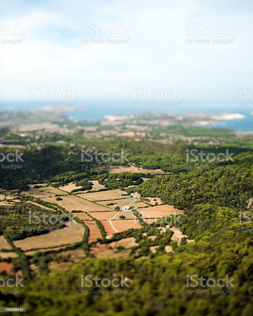 Aerial view of countryside. royalty-free stock photo
