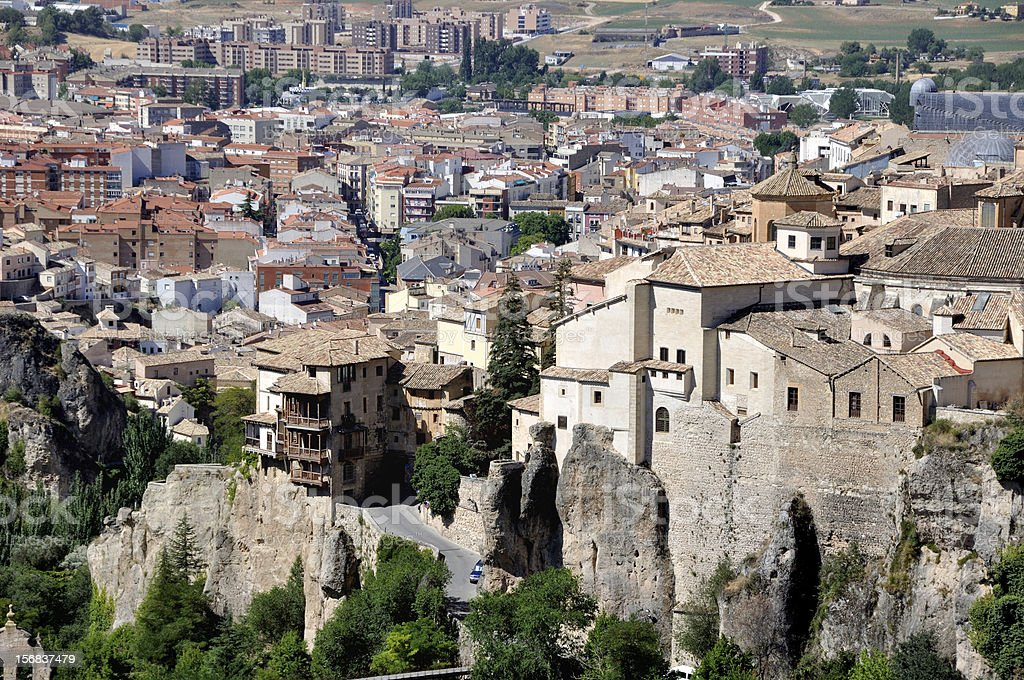 Aerial view of Cuenca, Spain royalty-free stock photo