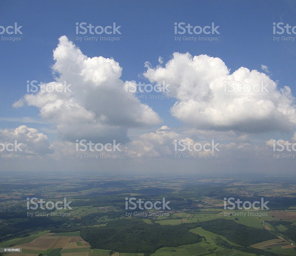 Aerial view of Cumulus royalty-free stock photo
