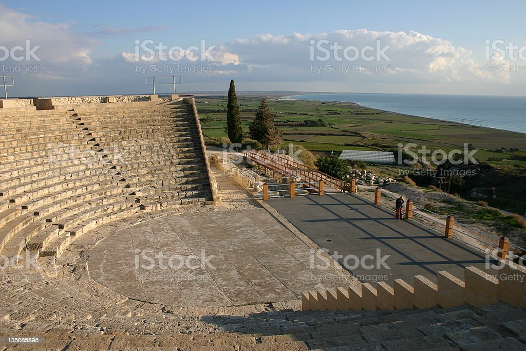 Aerial view of Cyprus at daytime stock photo