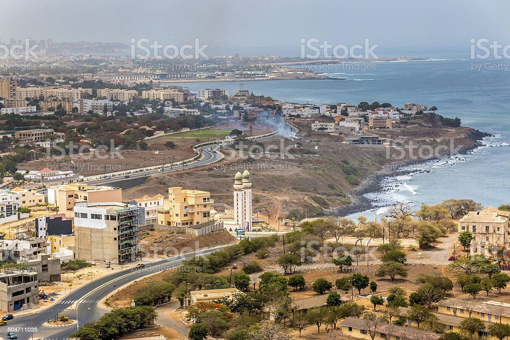 Aerial view of Dakar stock photo