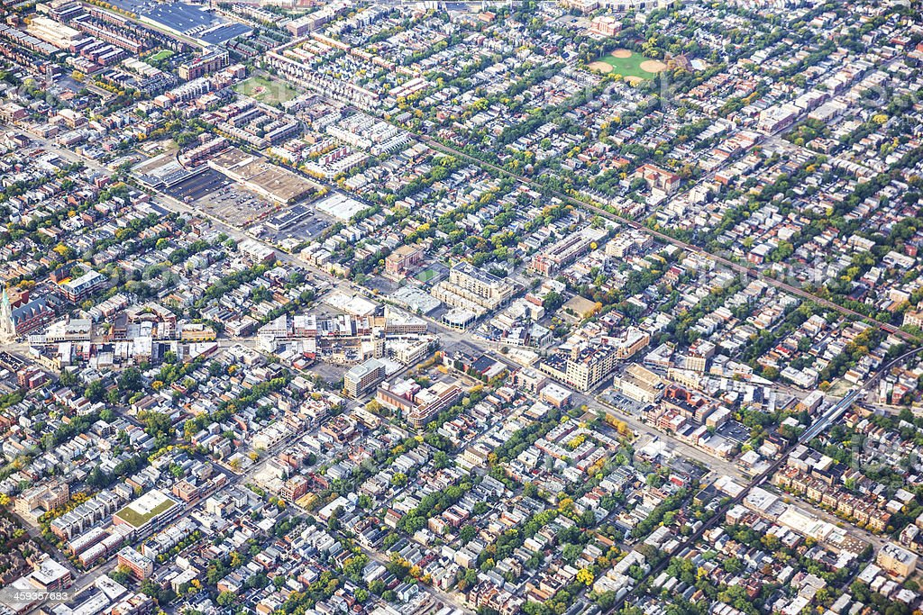 Aerial view of densely populated Chicago royalty-free stock photo