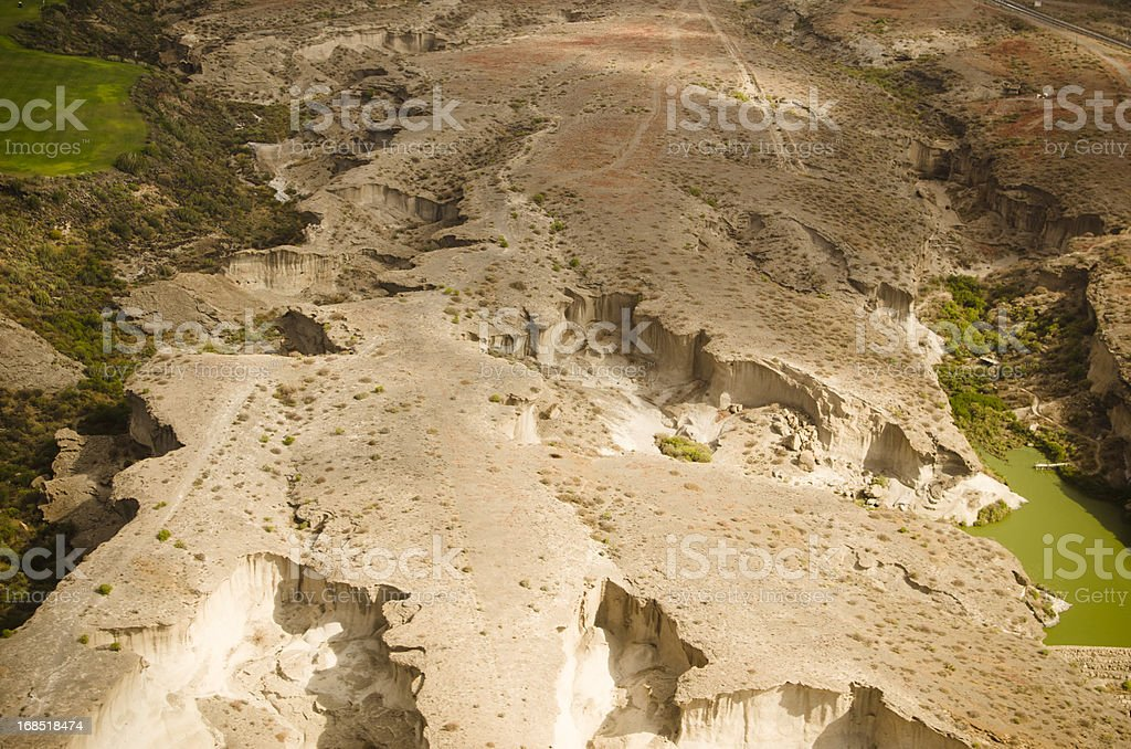 Aerial View of desert above Tenerife royalty-free stock photo