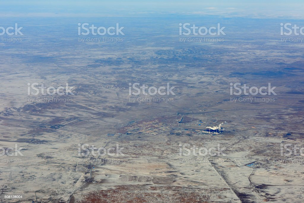 Aerial View of Desertic Area stock photo