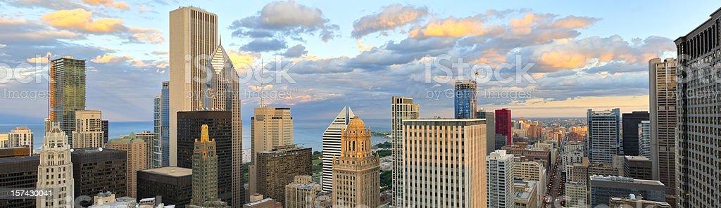 Aerial View of Downtown Chicago (XXXL) stock photo