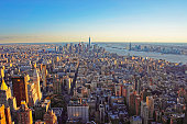 Aerial view of Downtown Manhattan and Lower Manhattan