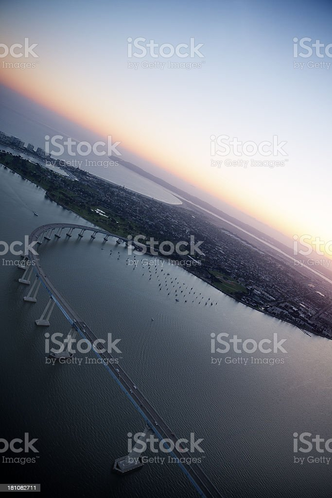 Aerial View of Downtown San Diego royalty-free stock photo