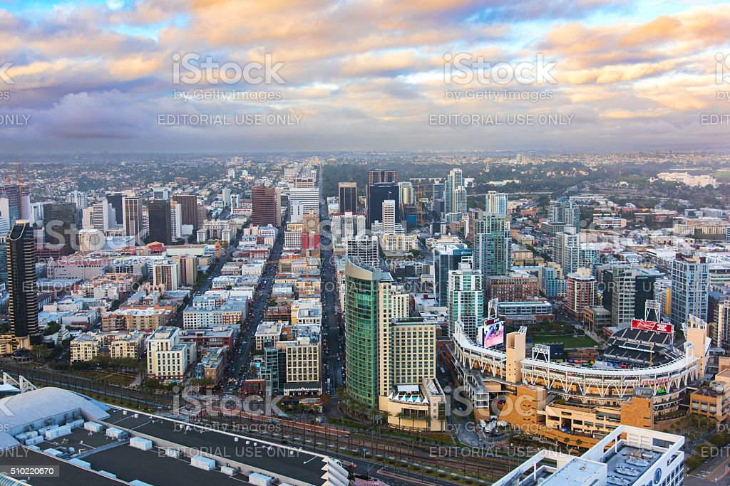 Aerial View of Downtown San Diego stock photo