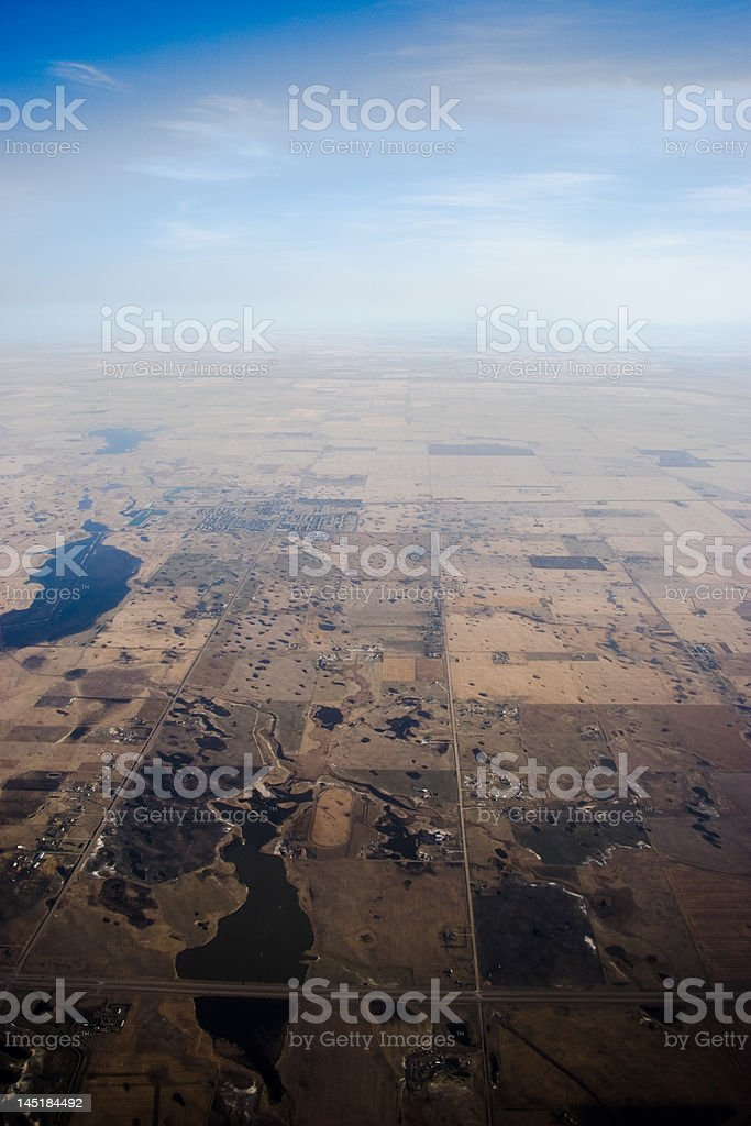 Aerial view of Earth royalty-free stock photo