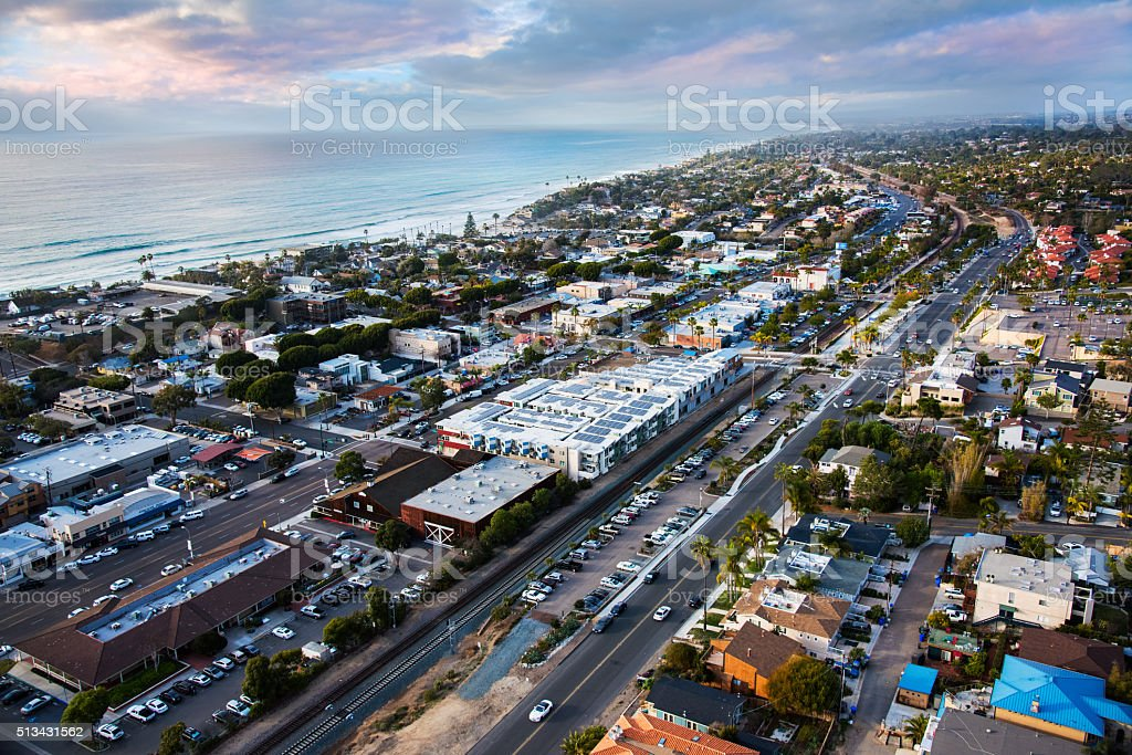 Aerial View of Encinitas California - San Diego stock photo