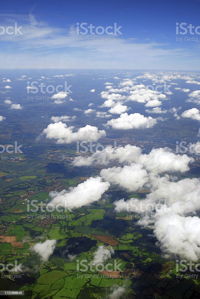Aerial view of England royalty-free stock photo