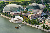 Aerial view of Esplanade theatre at Marina Bay