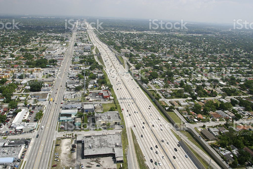 Aerial view of expressway stock photo