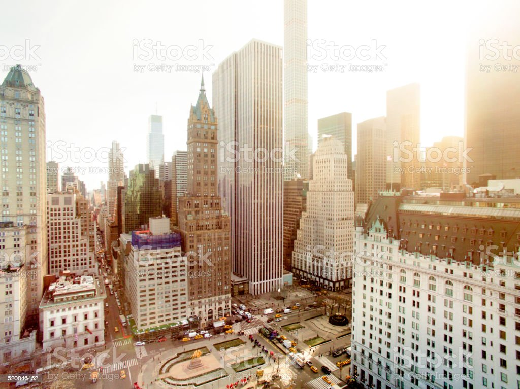 Aerial view of fifth avenue stock photo