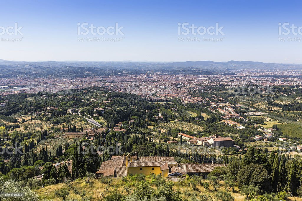 aerial view of Florence, Italy royalty-free stock photo