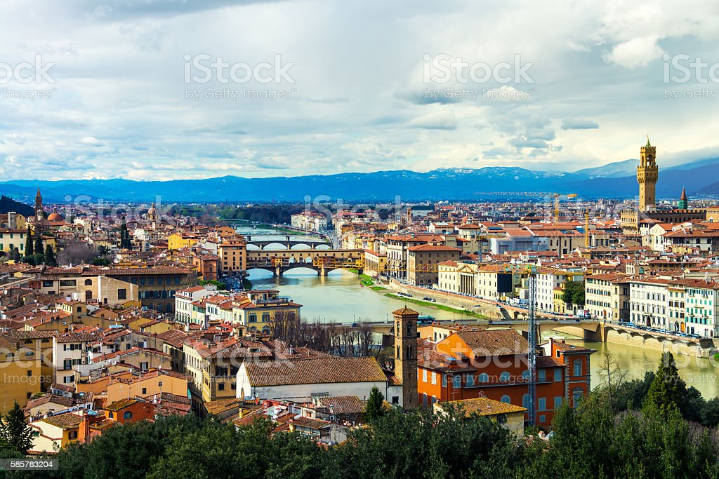 Aerial view of Florence, Italy stock photo