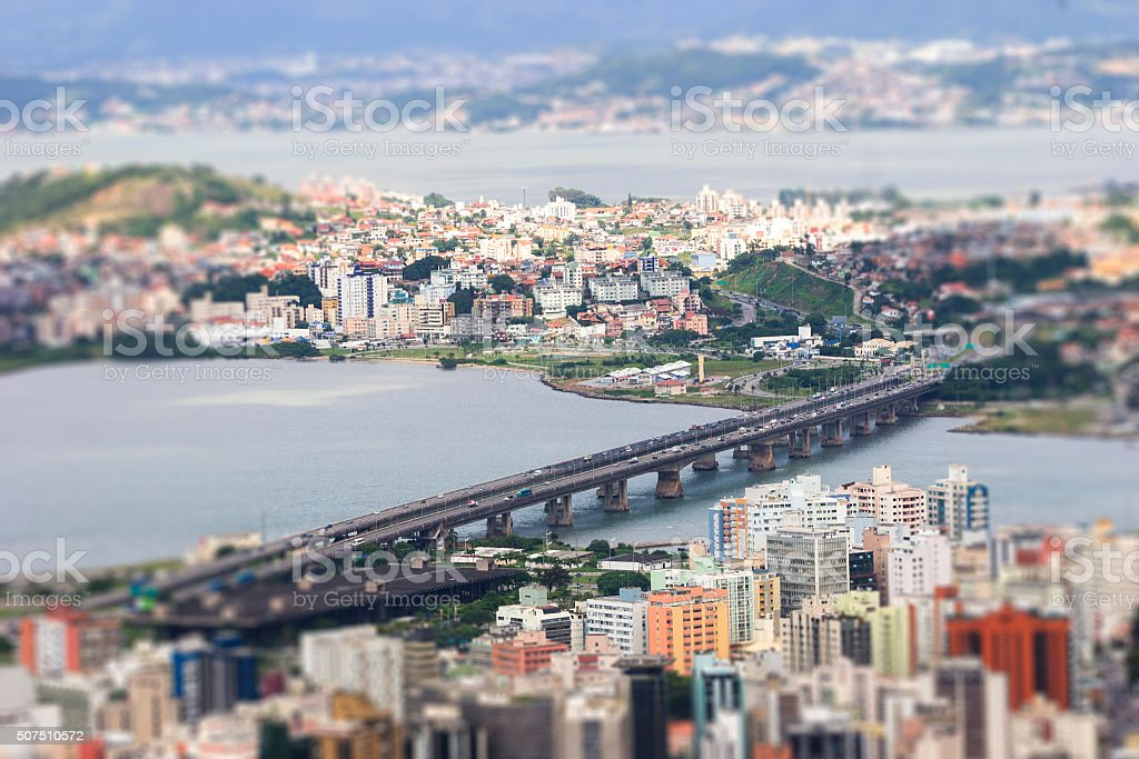 Aerial view of Florianópolis-SC Brazil stock photo