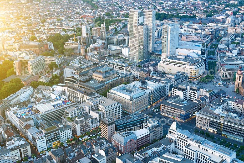 Aerial View of Frankfurt, Germany stock photo