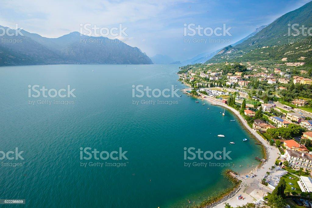Aerial View of Garda Lake stock photo