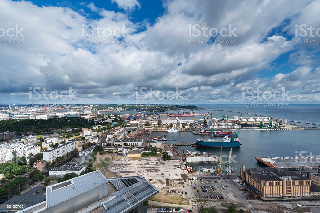 Aerial view of Gdynia stock photo