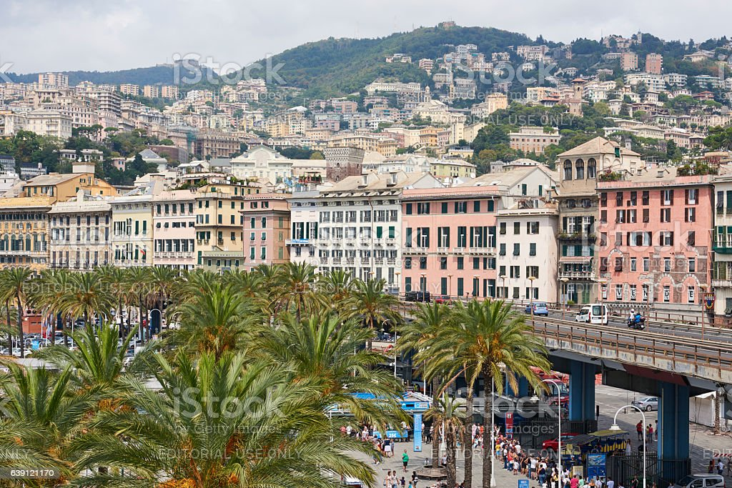 Aerial View of Genoa stock photo