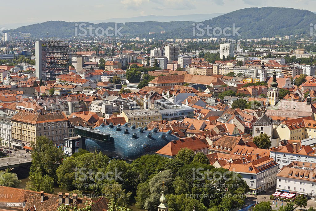 Aerial view of Graz, Austria royalty-free stock photo