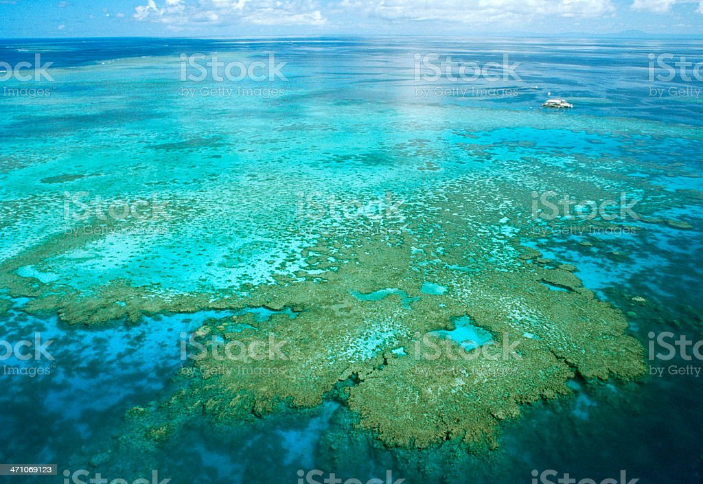 Aerial View Of Great Barrier Reef royalty-free stock photo