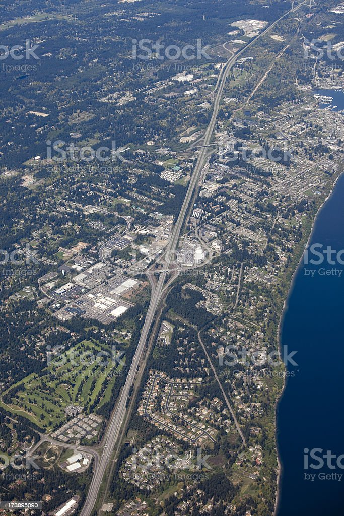 Aerial View of Greater Seattle Metro Area royalty-free stock photo