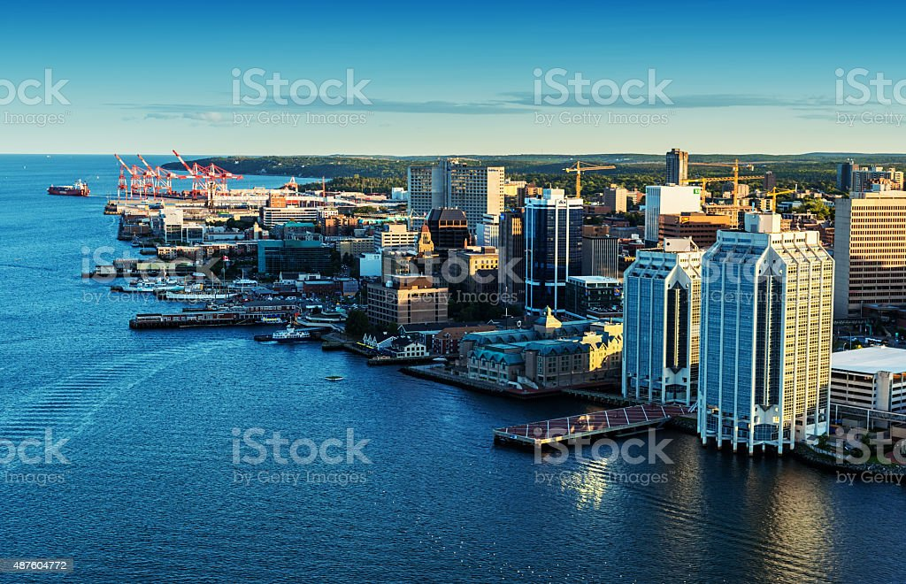 Aerial View of Halifax Skyline stock photo