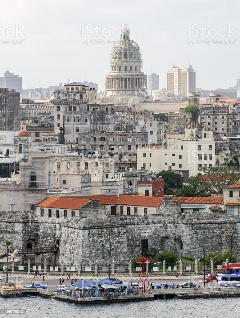aerial view of Havana stock photo