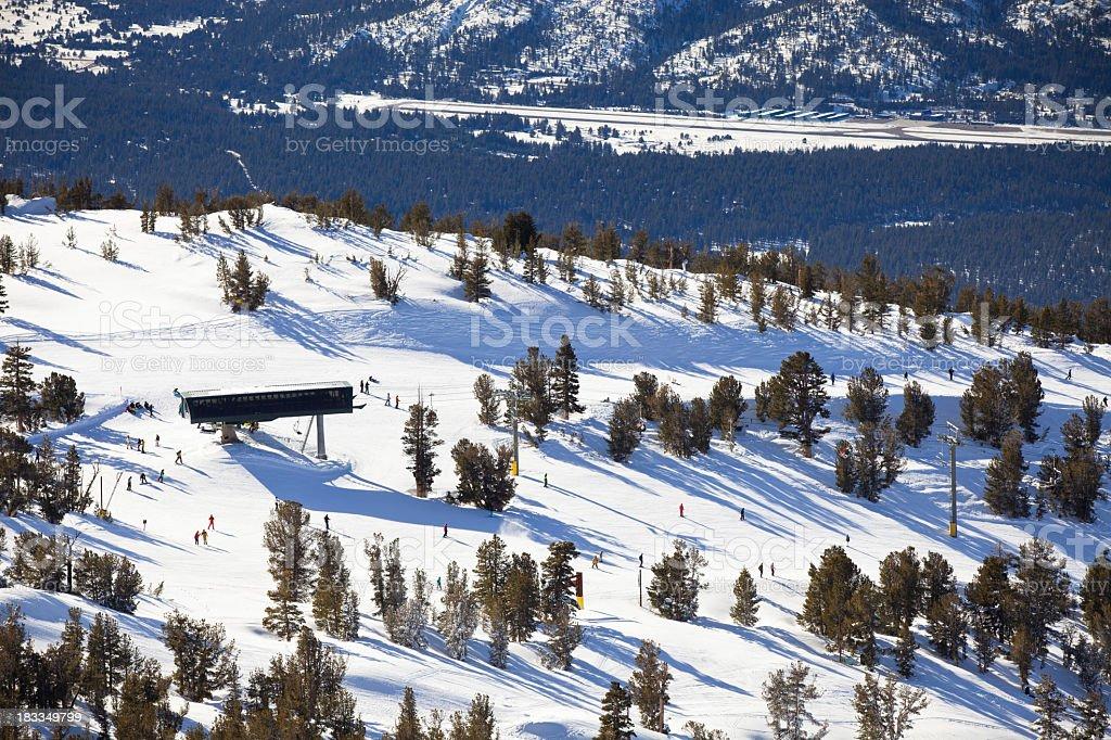 Aerial View of Heavenly Peak royalty-free stock photo