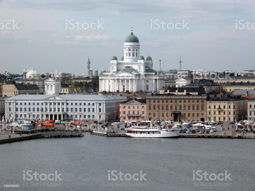Aerial view of Helsinki royalty-free stock photo