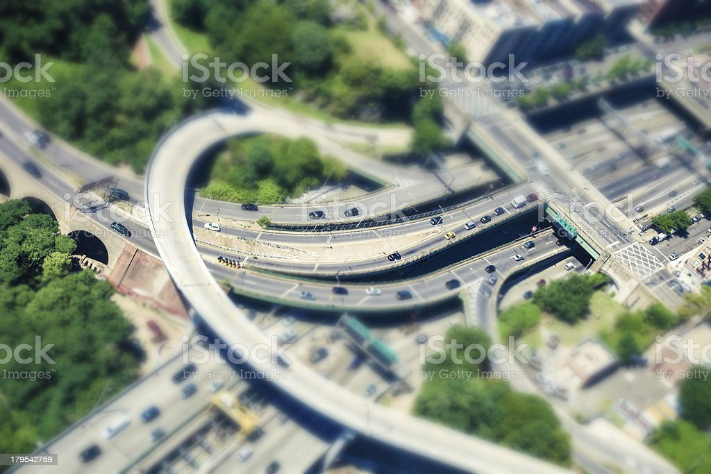 Aerial View of Highways aroung New York City royalty-free stock photo