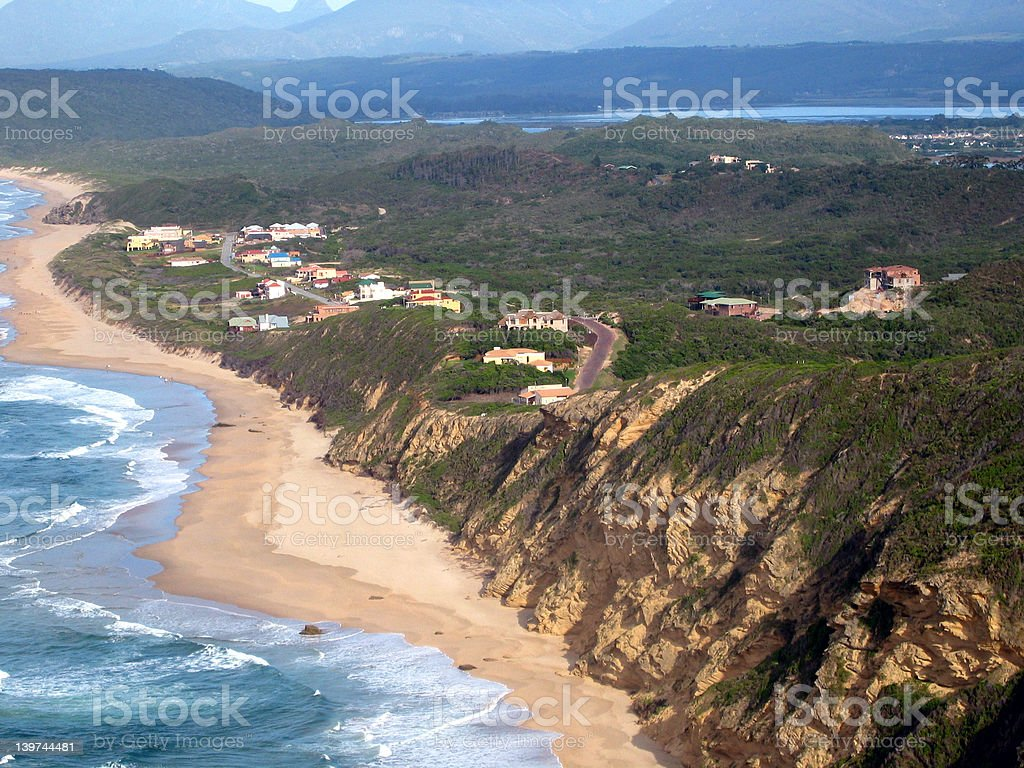 Aerial view of holiday homes. royalty-free stock photo