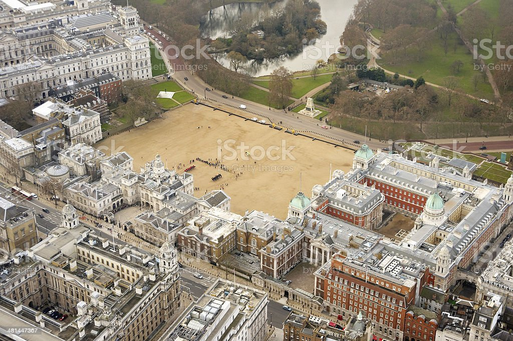 Aerial View of Horse Guards Parade stock photo