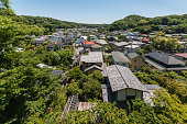 aerial view of houses in historic Kamakura